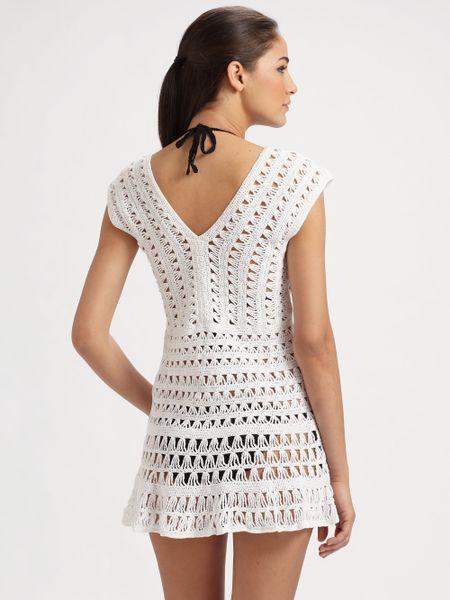 Anna Kosturova Swim Marissa Crocheted Coverup In White