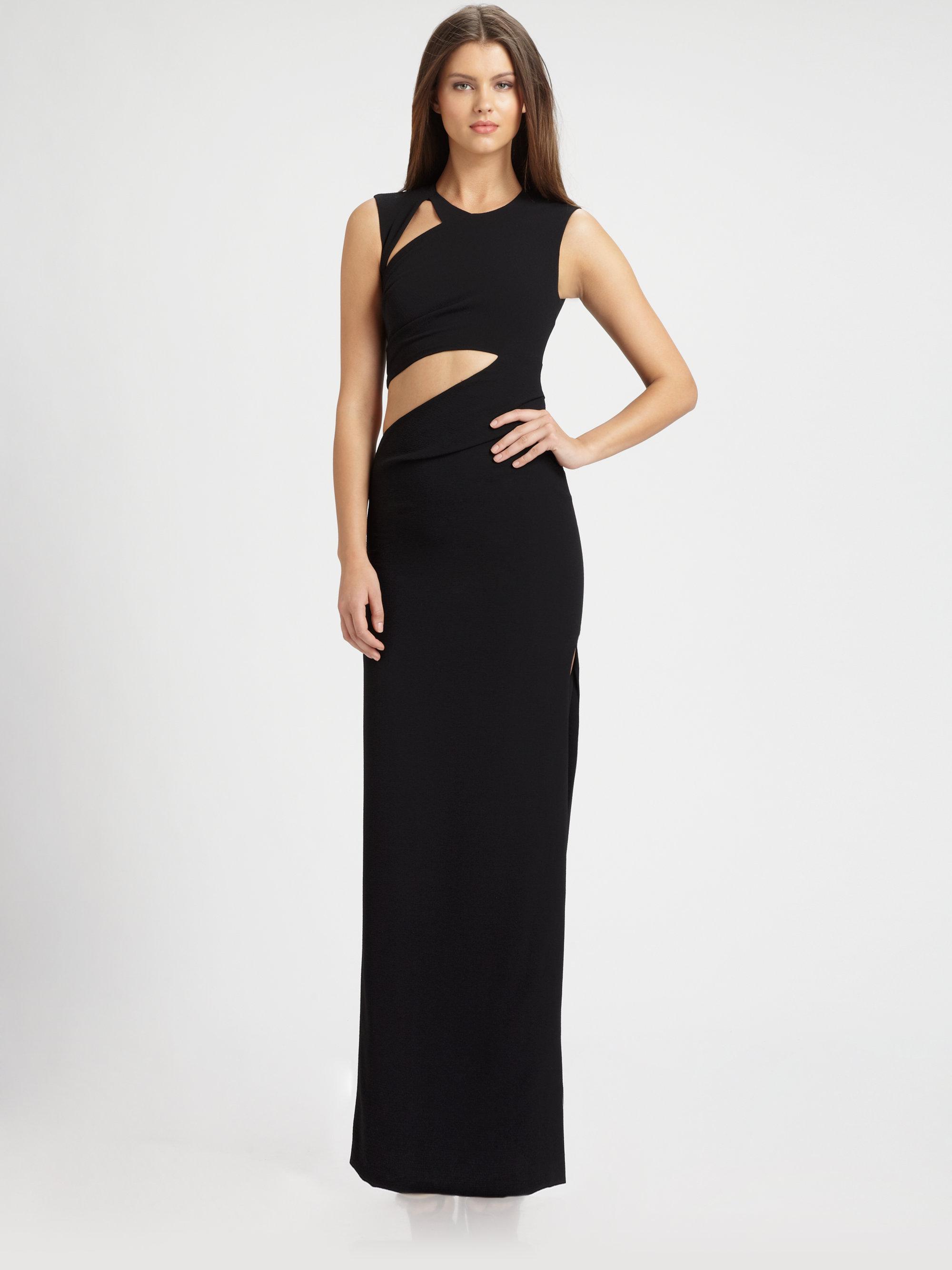 Lyst - Bcbgmaxazria Kimora Cutout Gown in Black