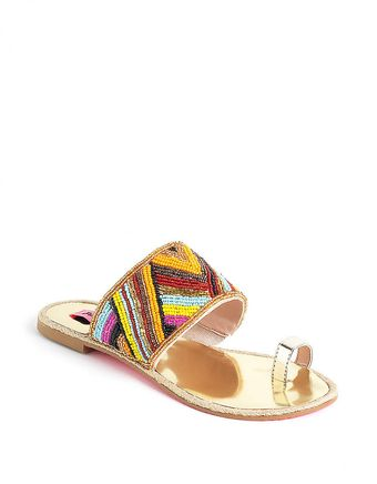 Betsey Johnson Raffi Toe Thong Sandals - Lyst