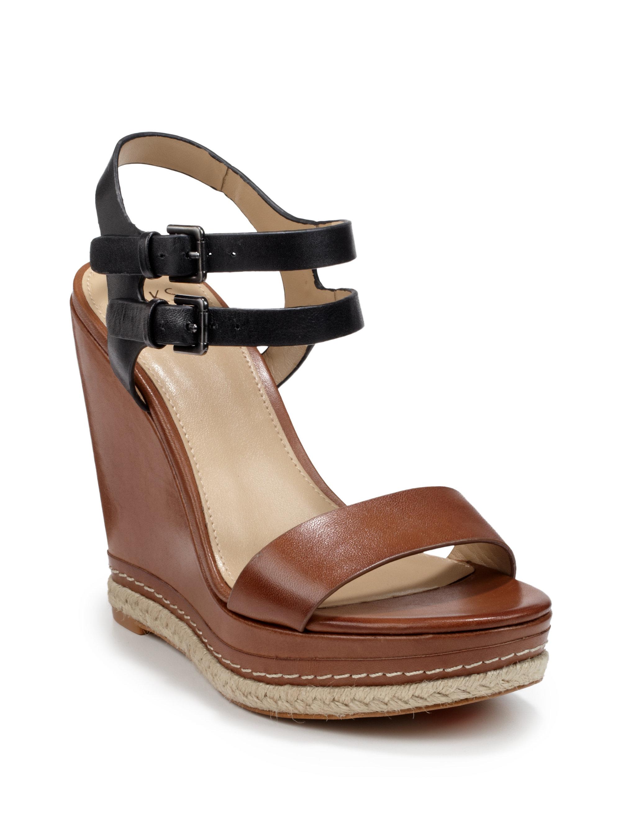 Viola Colorblock Leather Platform Sandals G31Ule
