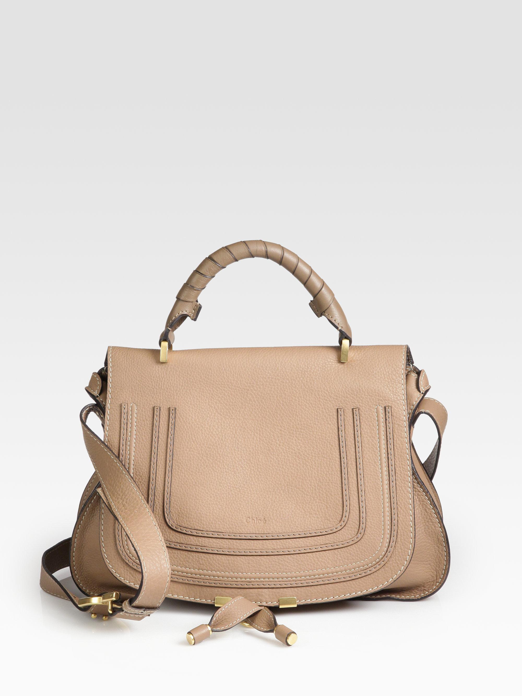 chlo marcie medium shoulder bag in brown nut lyst. Black Bedroom Furniture Sets. Home Design Ideas