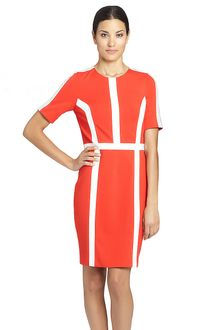 Cynthia Steffe Ponte Dress with Contrast Trim - Lyst