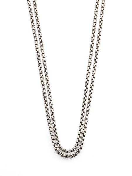 David Yurman Sterling Silver Long Box Chain Necklace In