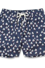 Faconnable Midlength Boatprint Swim Shorts - Lyst