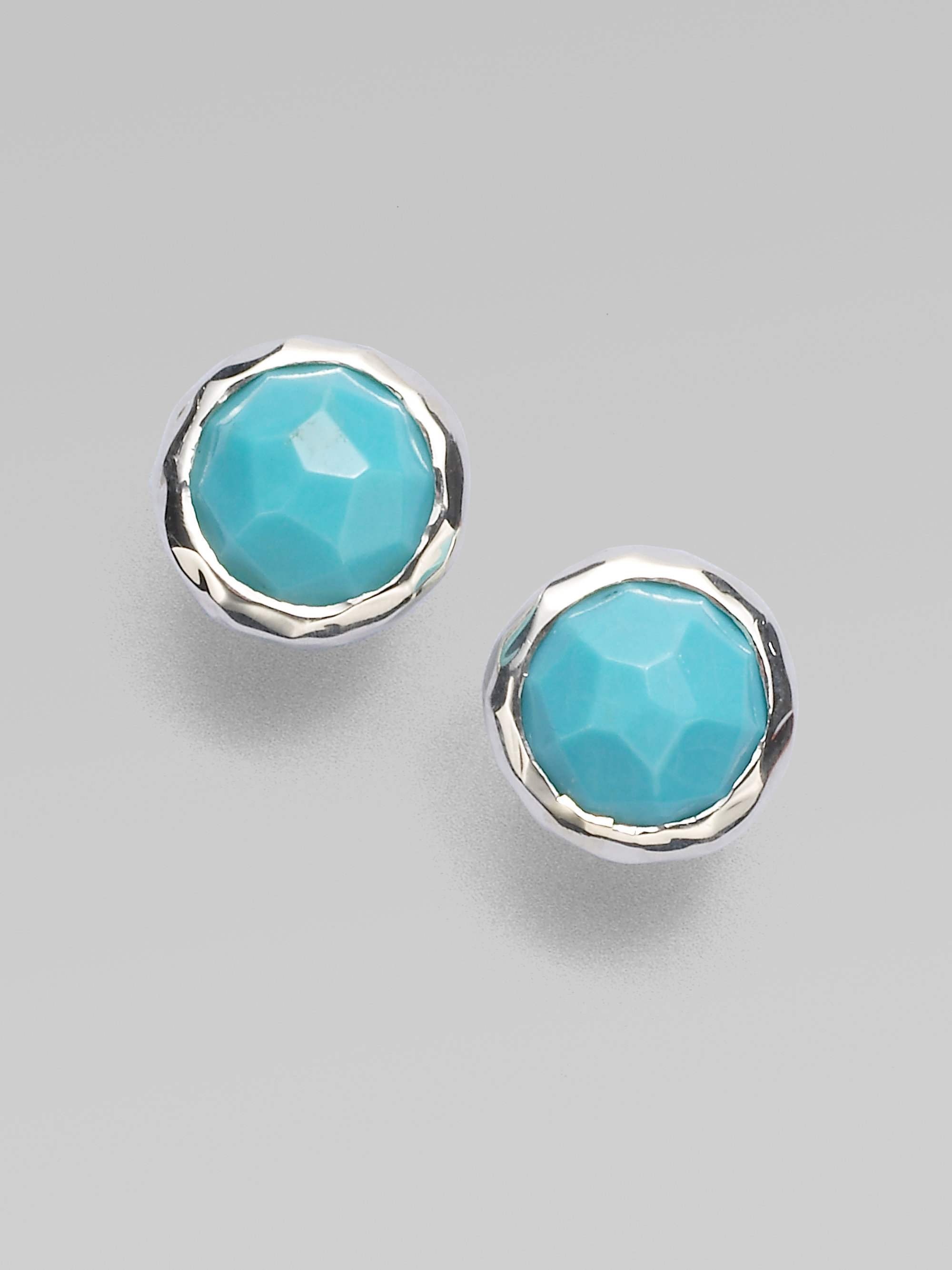 earrings product bella stud turquoise completely