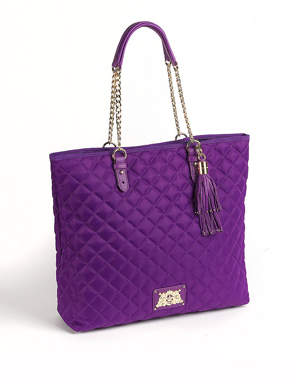 juicy couture quilted tote bag in purple lyst. Black Bedroom Furniture Sets. Home Design Ideas