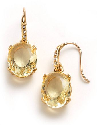 Juicy Couture Small Oval Drop Earrings - Lyst