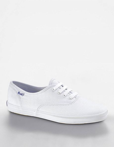 keds chion cotton canvas sneaker in white white canvas
