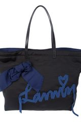 Lanvin Ribbon Shopper Bag - Lyst