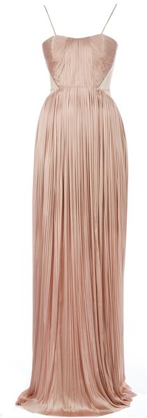 Maria Lucia Hohan Long Ruched Pleated Dress - Lyst
