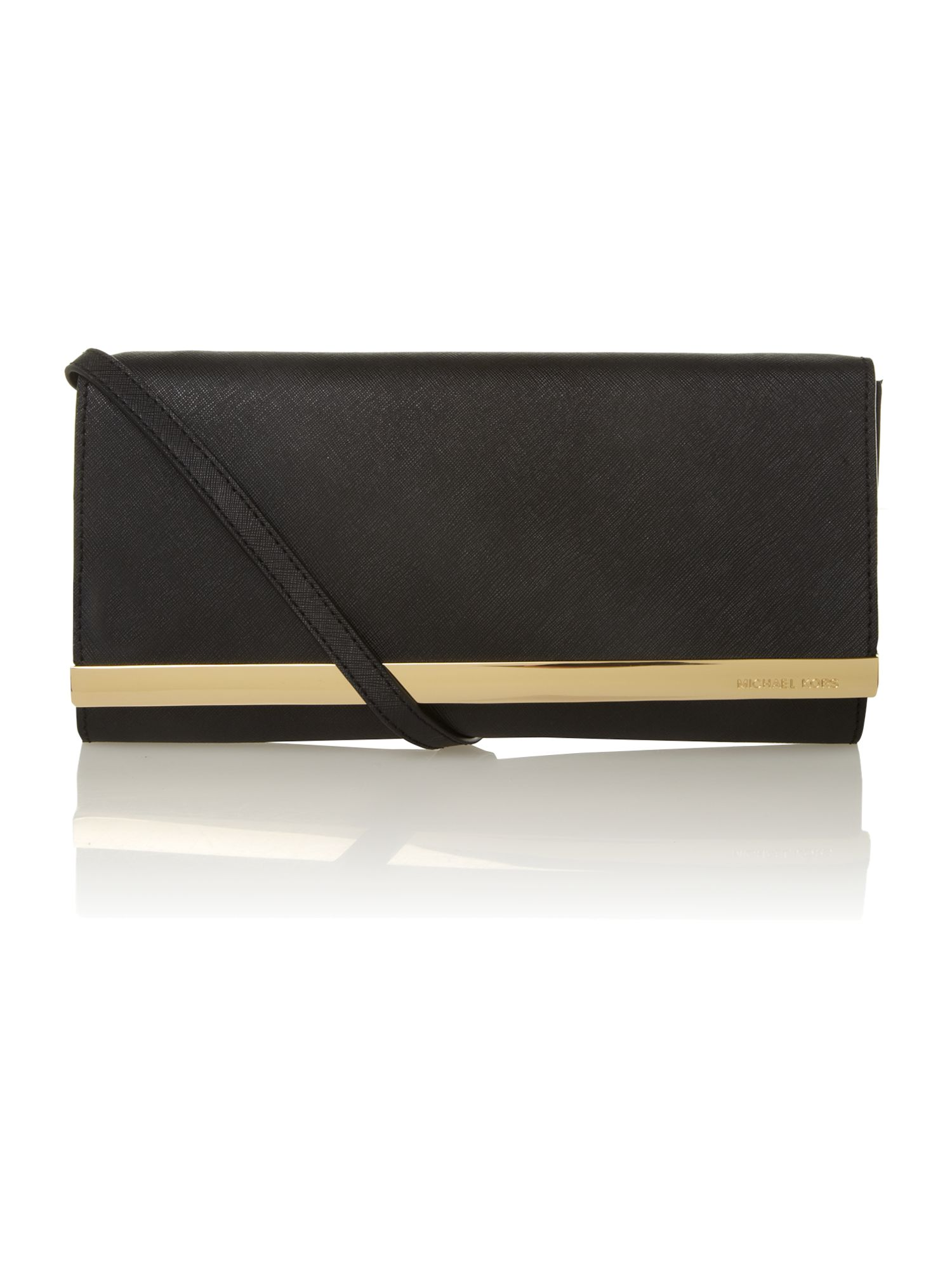 michael kors tilda clutch in black lyst. Black Bedroom Furniture Sets. Home Design Ideas