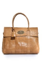 Mulberry Stamped Leather Bayswater Bag - Lyst