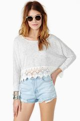 Nasty Gal Midsummer Crop Knit - Lyst