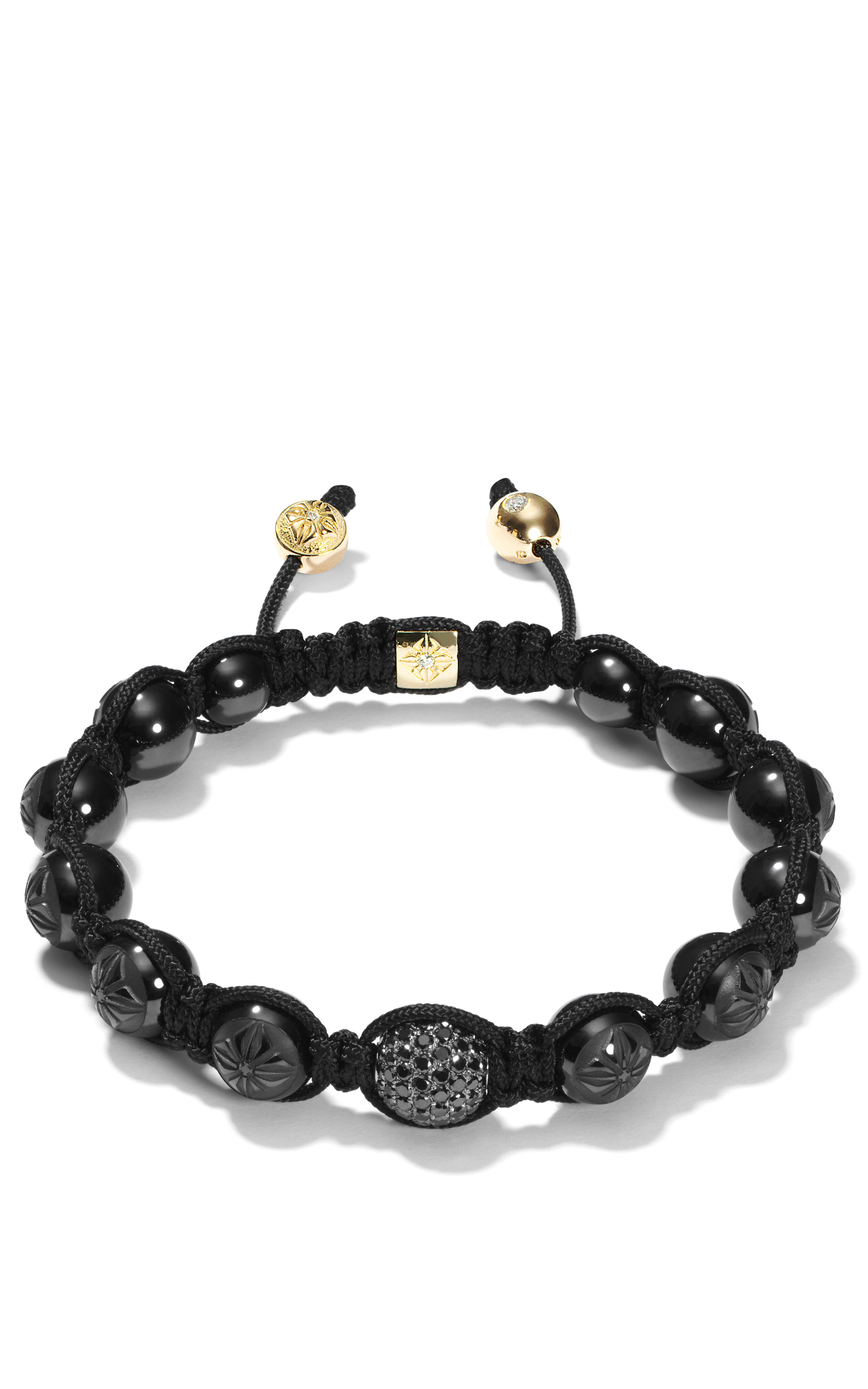 Diamond Anklet With Toe Ring Lc00035 In Anklets From: Shamballa Jewels Carved Ceramic Bracelet With Black