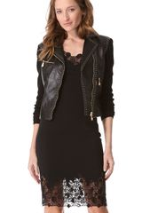 Versace Leather Jacket - Lyst