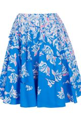Cacharel Aline Printed Skirt - Lyst