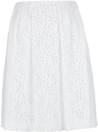 Cacharel Pleated Lace Skirt - Lyst