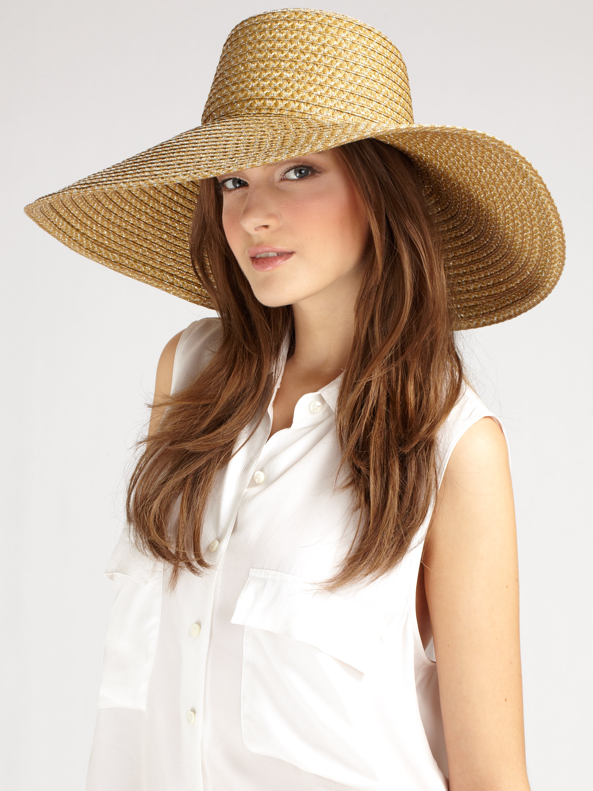Lyst - Eric Javits Over-sized Floppy Hat in Natural 7b682557aaf4