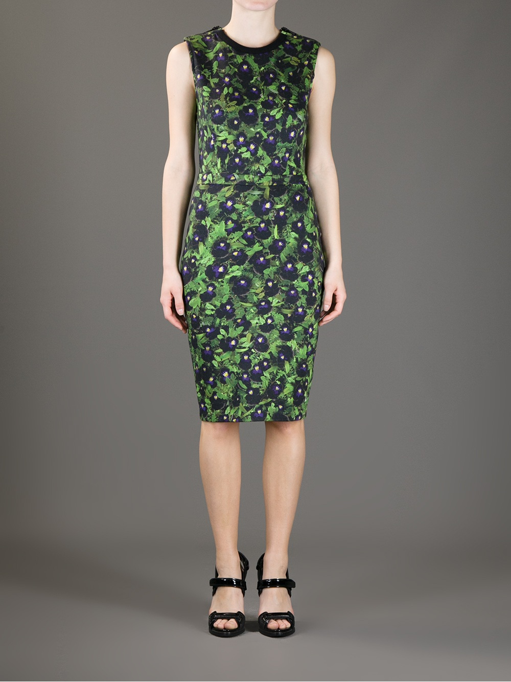 Lyst Givenchy Pansy Print Dress In Green