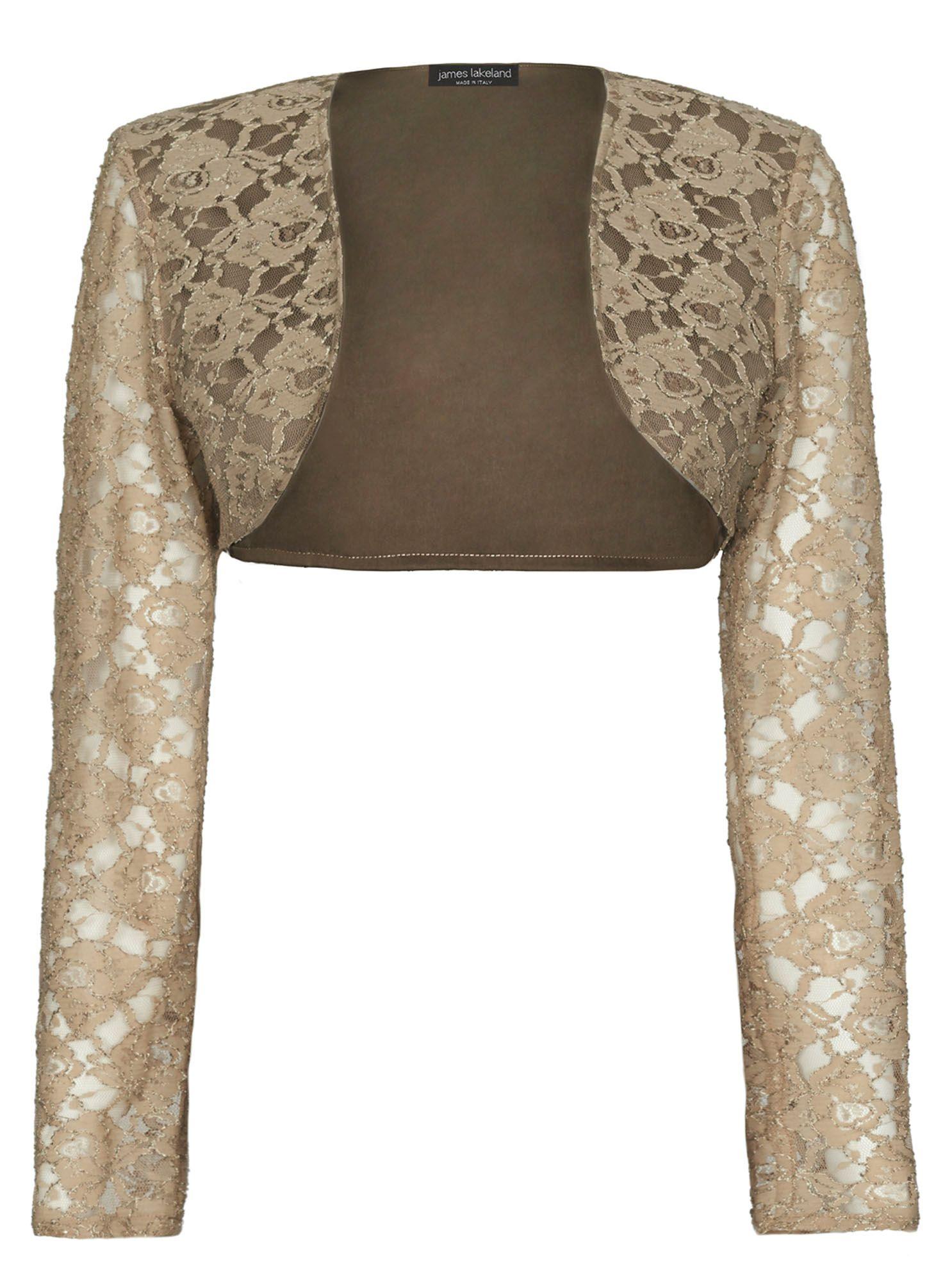 james lakeland lace bolero in beige lyst. Black Bedroom Furniture Sets. Home Design Ideas