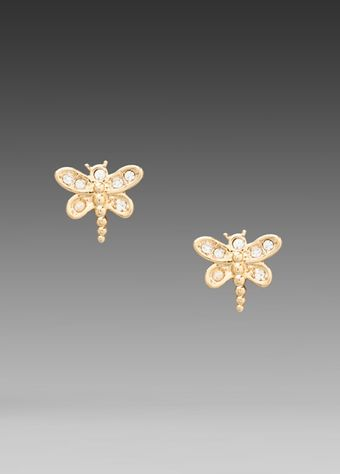 Juicy Couture Dragonfly Stud Earrings  - Lyst