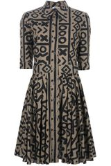Moschino Cheap & Chic Pattern Print Shirt Dress - Lyst