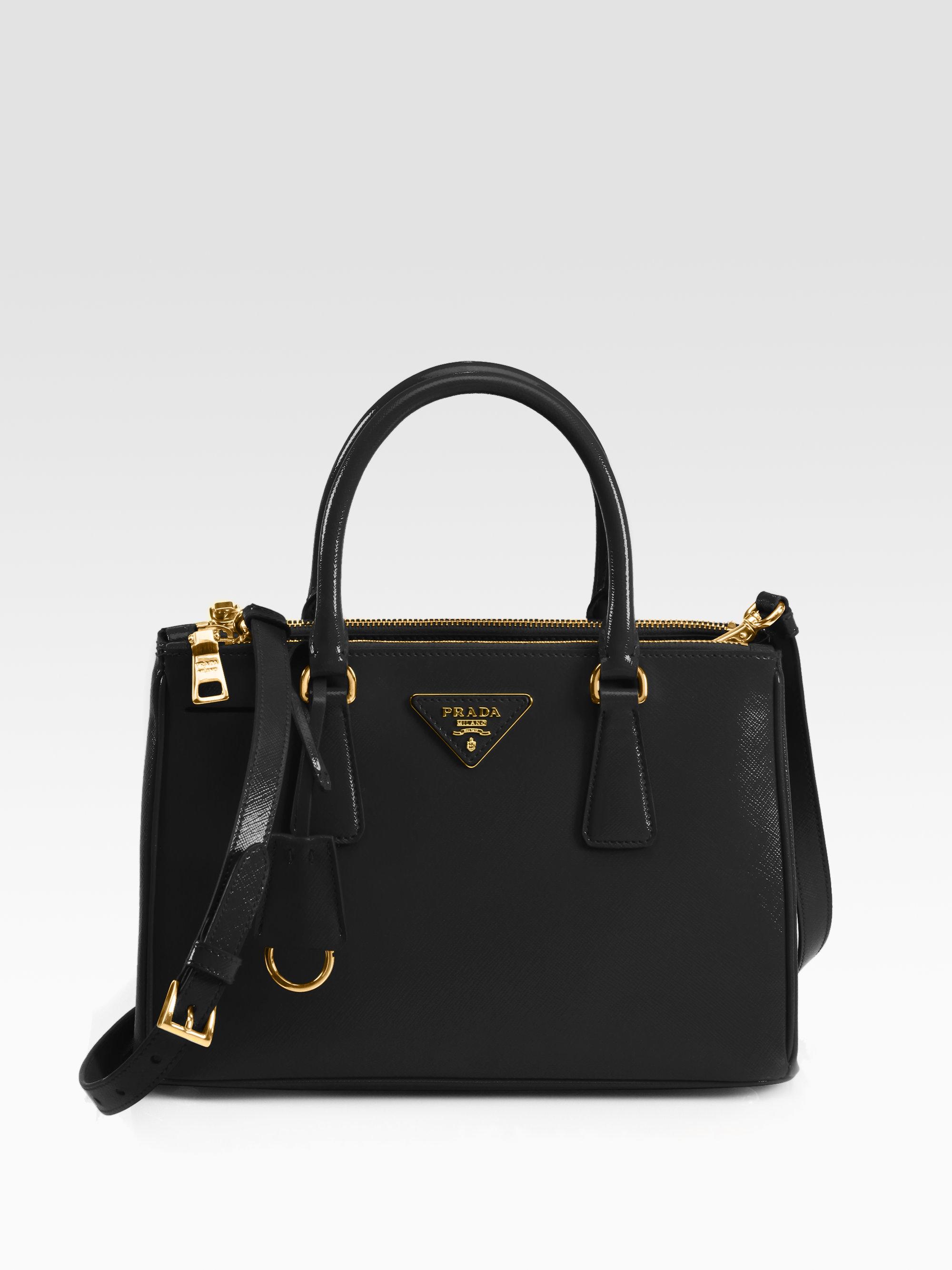 fake prada messenger bag - Prada Saffiano Vernice Tote in Black (nero-black) | Lyst