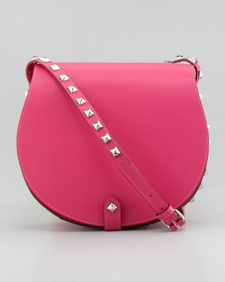 Rebecca Minkoff Skylar Studded Crossbody Bag In Pink