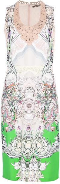 Roberto Cavalli Printed Sleeveless Dress - Lyst