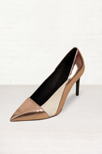See By Chloé See By Chloé Gold Metallic Stiletto Heels - Lyst