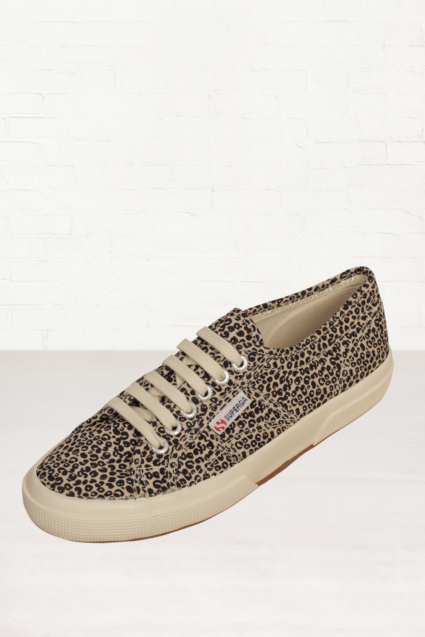 superga cotu classic leopard print sneakers in animal leopard lyst. Black Bedroom Furniture Sets. Home Design Ideas