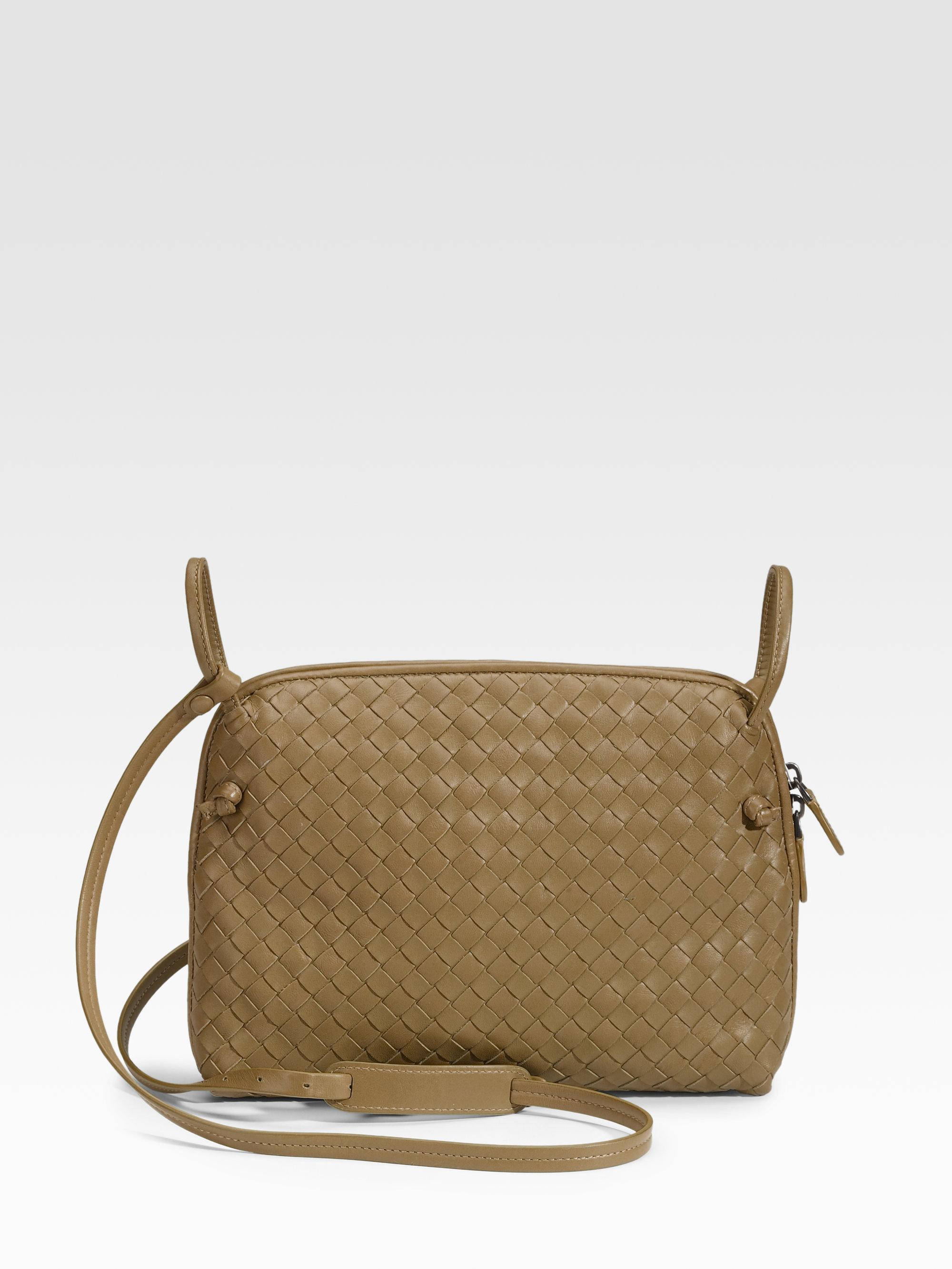 e34a1b102c19 Lyst - Bottega Veneta Small Leather Messenger Bag in Yellow