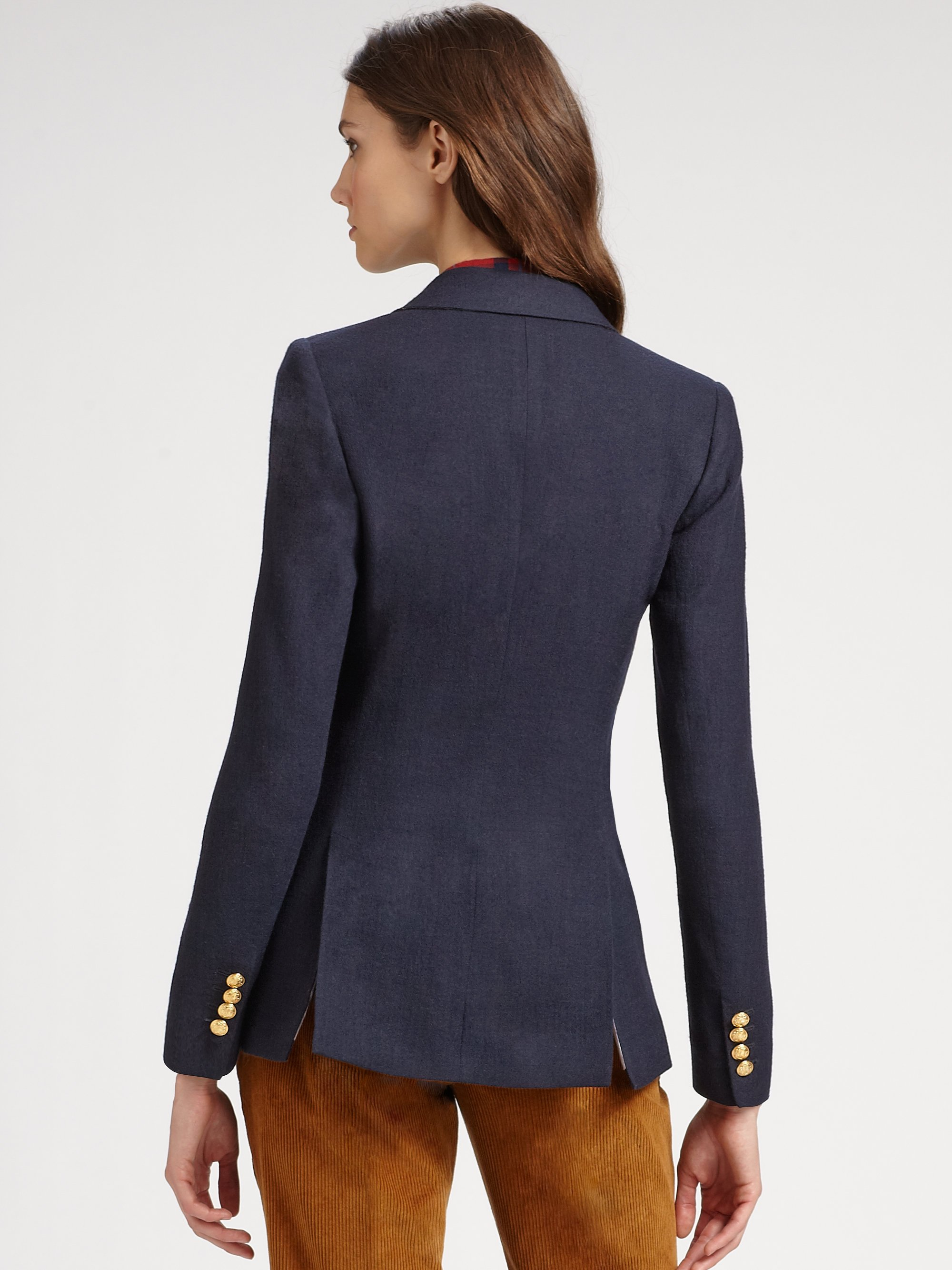 Lyst Boy By Band Of Outsiders Double Breasted Blazer In Blue
