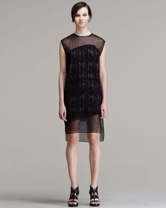 Helmut Lang Threadstitched Technique Dress - Lyst