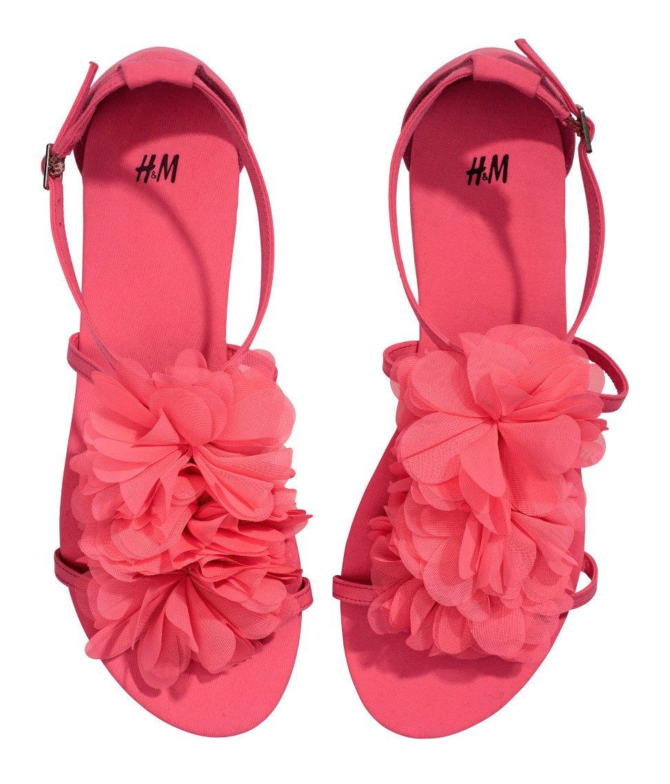 Shoeniverse high street sandal bargain hm pink flower sandals high street sandal bargain hm pink flower sandals mightylinksfo Gallery