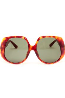 Linda Farrow Luxe Tortoiseshell Acetate and Leather Sunglasses - Lyst