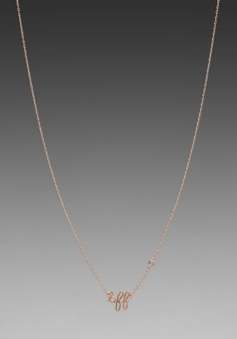 Shy By Sydney Evan Bff Necklace with Diamond Bezel in Rosegold - Lyst