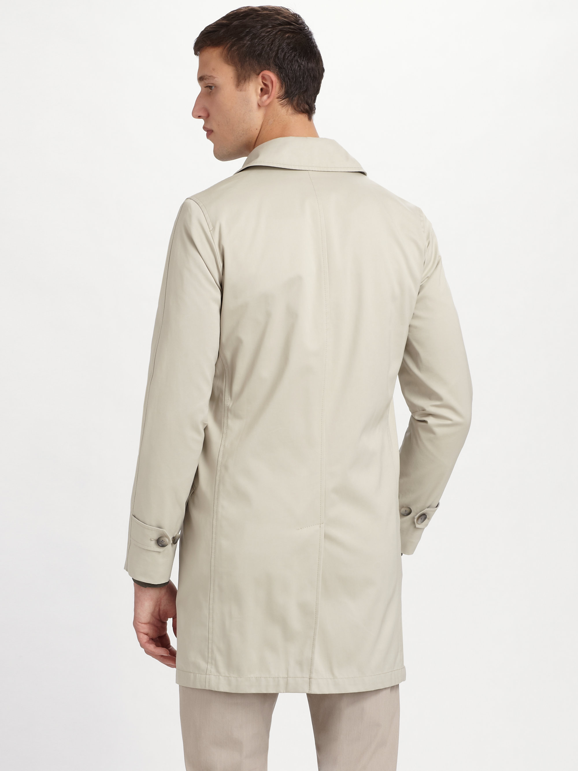 Theory Decker Sturdy Car Coat in Natural for Men | Lyst