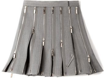 Thom Browne Wool Zipped Kilt - Lyst