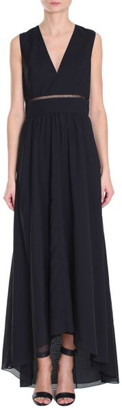 Tibi Peekaboo Embroidery Long Dress - Lyst