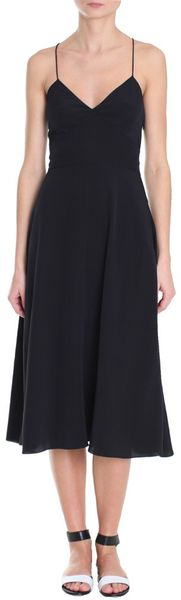Tibi Solid Silk Strappy Dress - Lyst