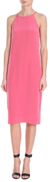 Tibi Solid Silk Halter Dress - Lyst