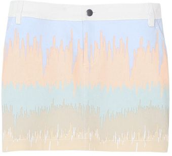 Tibi Analog Denim Skirt - Lyst