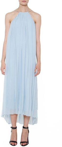 Tibi Pleated Silk Chiffon Dress - Lyst