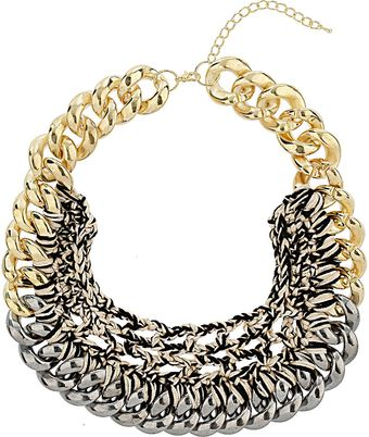 Topshop Chain and Thread Collar - Lyst