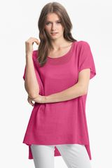 Eileen Fisher Scoop Neck Dolman Sleeve Tunic - Lyst