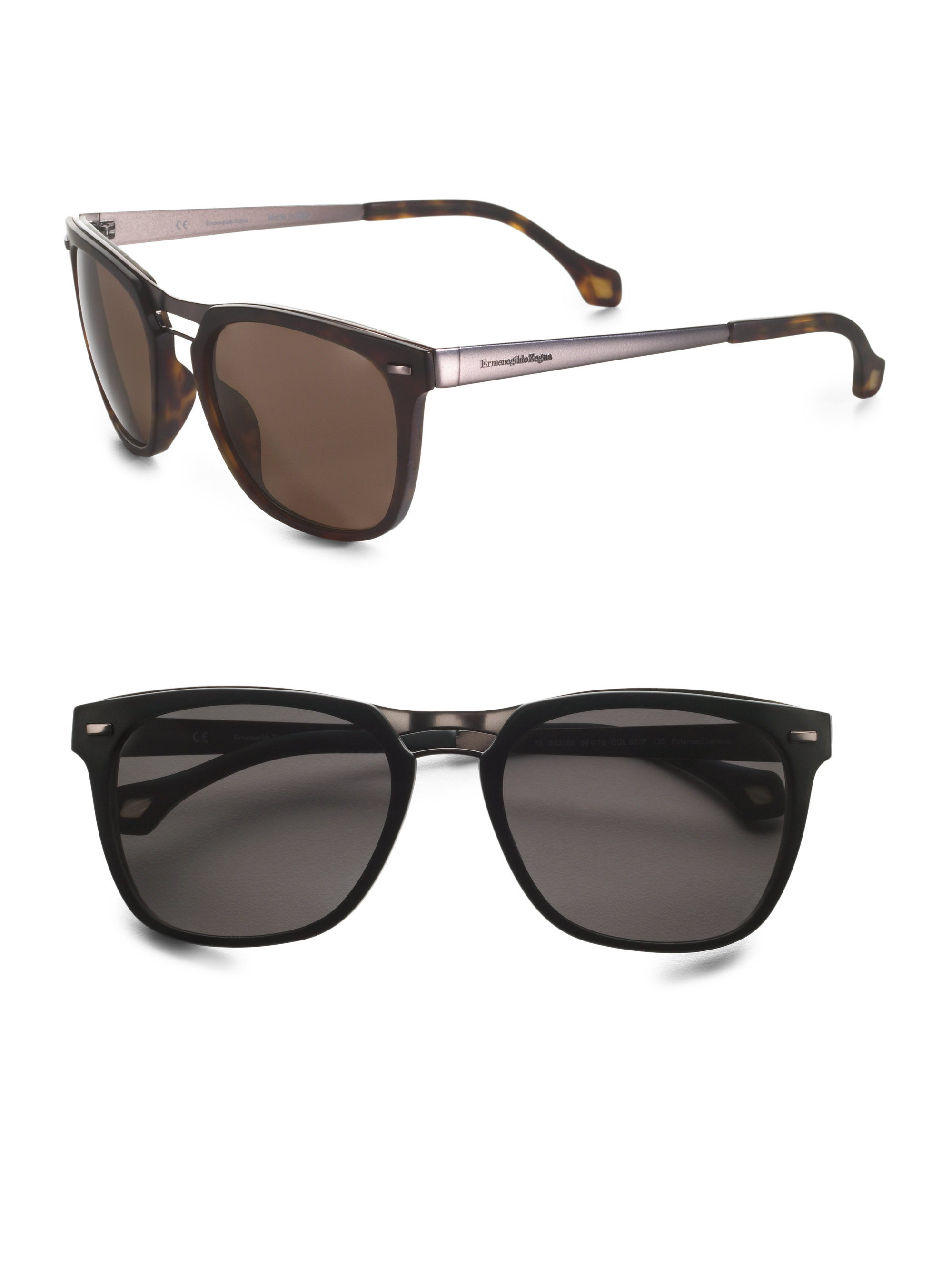 Zegna Sunglasses  ermenegildo zegna vintage wayfarer sunglasses in black for men lyst