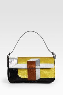 Fendi Sequined Baguette Shoulder Bag - Lyst