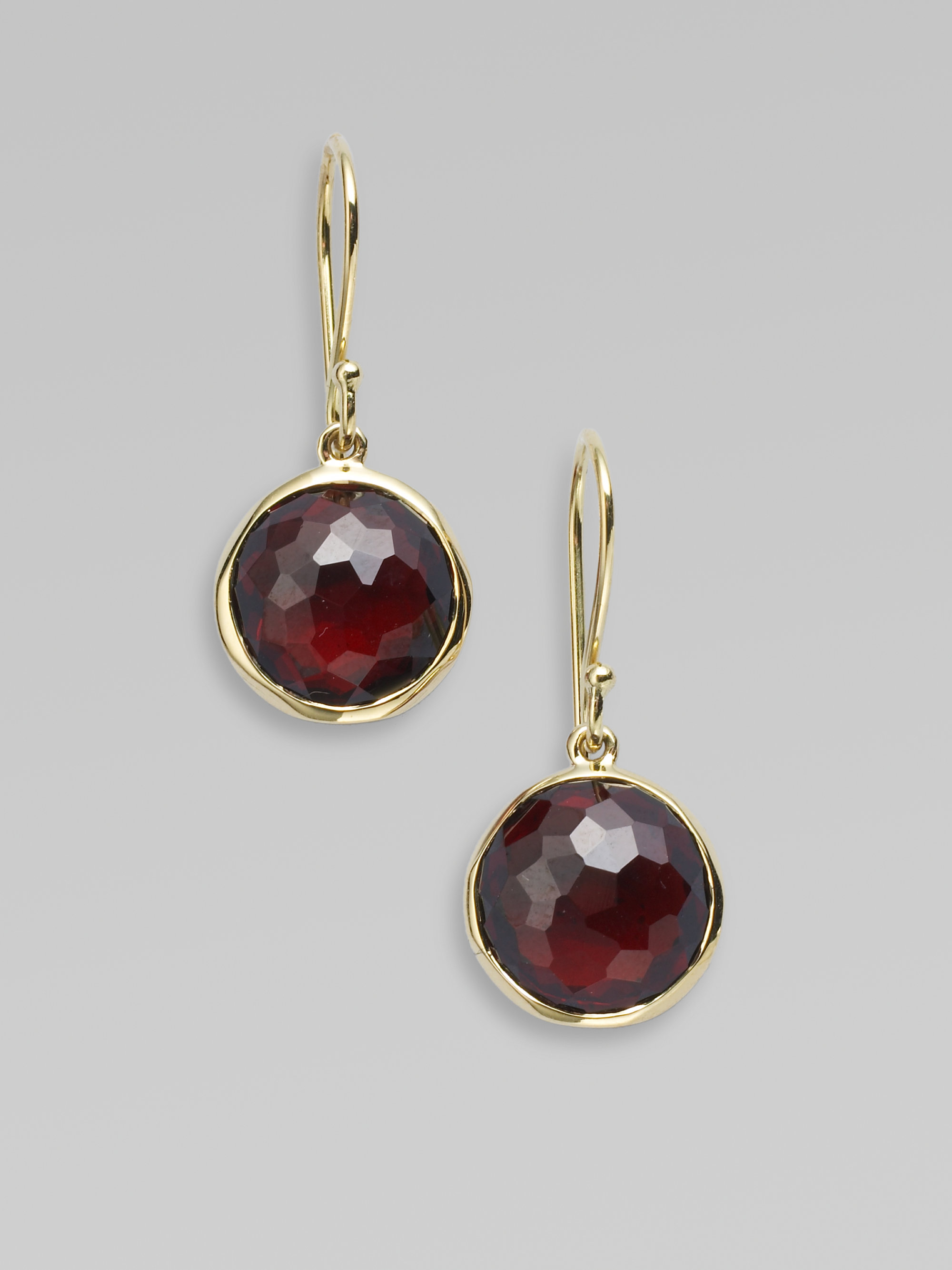 garnet rhodolite earrings gold white n