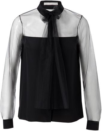 Jason Wu Silk and Mesh Shirt - Lyst